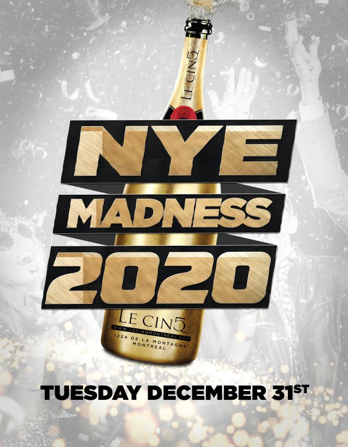 Le CinQ New Years Eve 2021 tickets in Montreal, QC